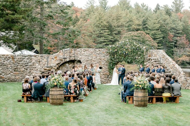 Romantic Mediterranean-Inspired Garden Ceremony at Lakefalls Lodge in Stoddard, New Hampshire