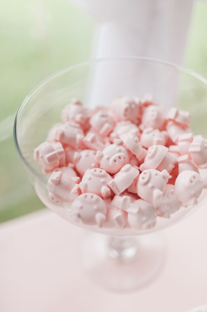 Pink Pig-Shaped Candies