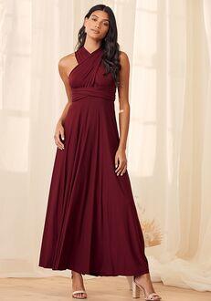 Lulus Tricks of the Trade Burgundy Maxi Dress Bridesmaid Dress