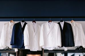 White and Navy Suit Jackets