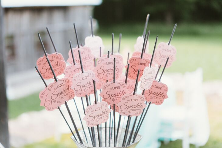Pink Personalized Sparklers