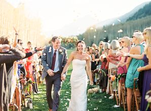 Sophisticated Strapless Anne Barge Wedding Dress