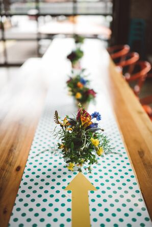Retro Polka Dot Table Linens