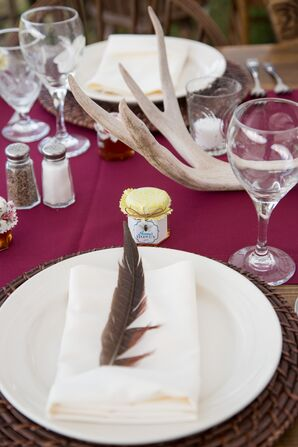 Feather-Accented Place Settings