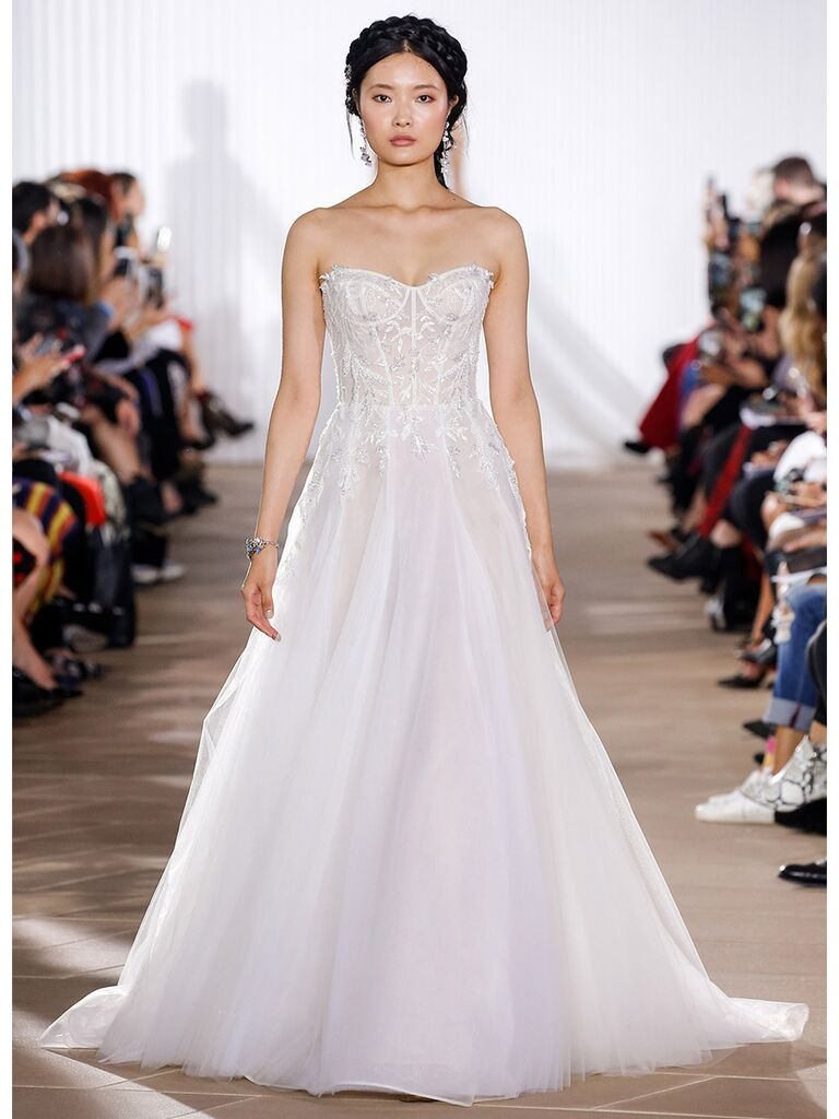 Ines Di Santo wedding dress strapless ball gown with seaming