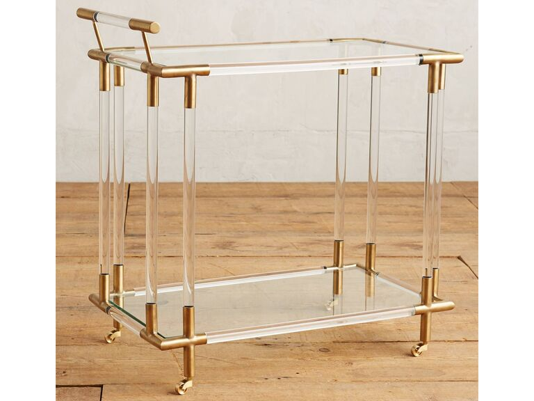 If You Know Your Friends Or Family Members Love To Entertain What Could Be A Better 17 Year Anniversary Gift Than Stylish Lucite Bar Cart
