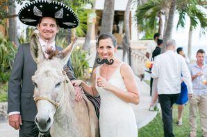 Whimsical Wedding Donkey in Mexico