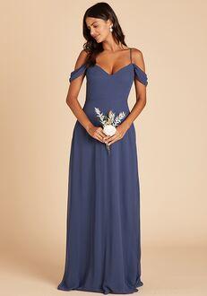 Birdy Grey Devin Convertible Dress in Slate Blue V-Neck Bridesmaid Dress