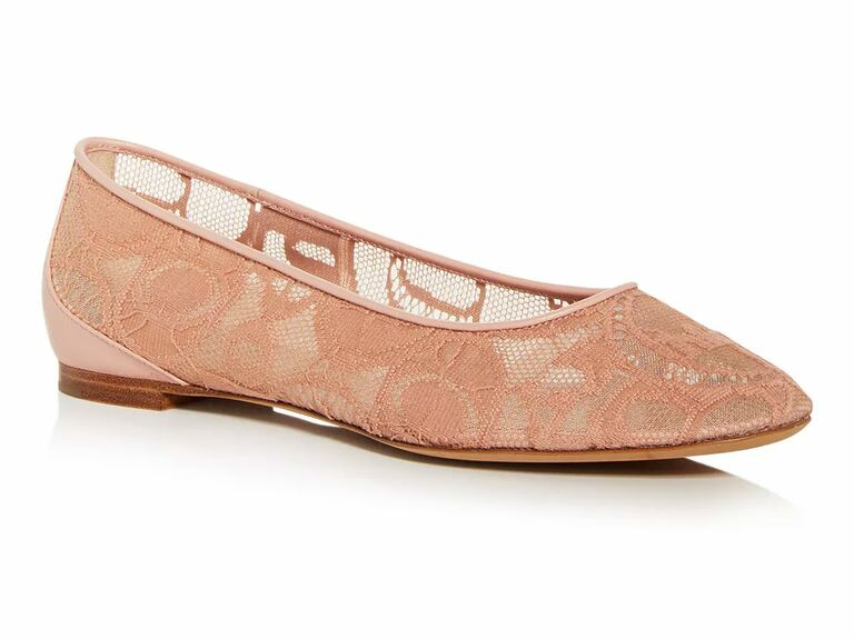 nude lace wedding flats