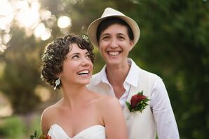 The Two Bride's Short Wedding Hairstyles and Formal Fedora
