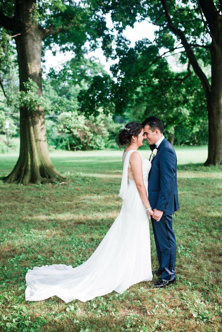 Sheath Wedding Dress With Cowl Back