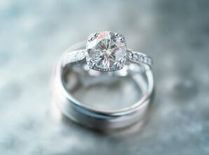 Tacori Diamond Ring with Halo and Encrusted Band