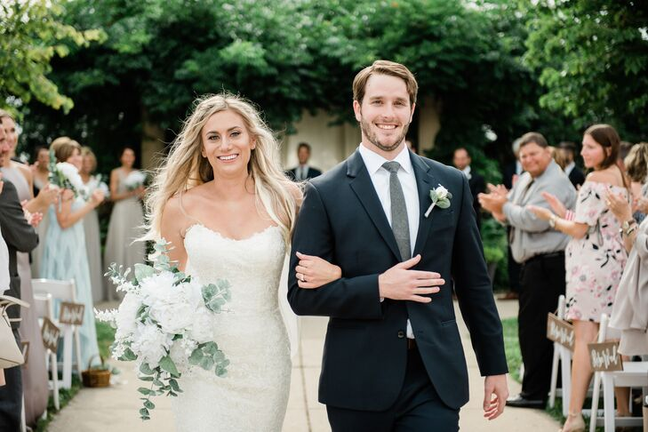 For their summer wedding in Michigan, Brynneand Dan Noble transformed an empty greenhouse into a relaxed and timeless garden oasis. Their color palet