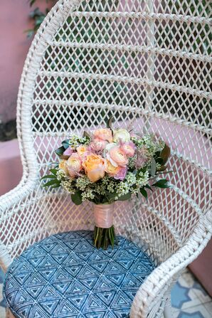 Bohemian Bouquet with Ranunculus, Roses and Wildflowers