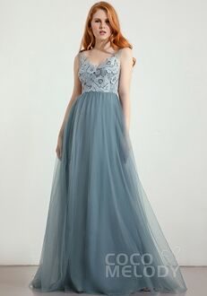 CocoMelody Bridesmaid Dresses RB0299 V-Neck Bridesmaid Dress