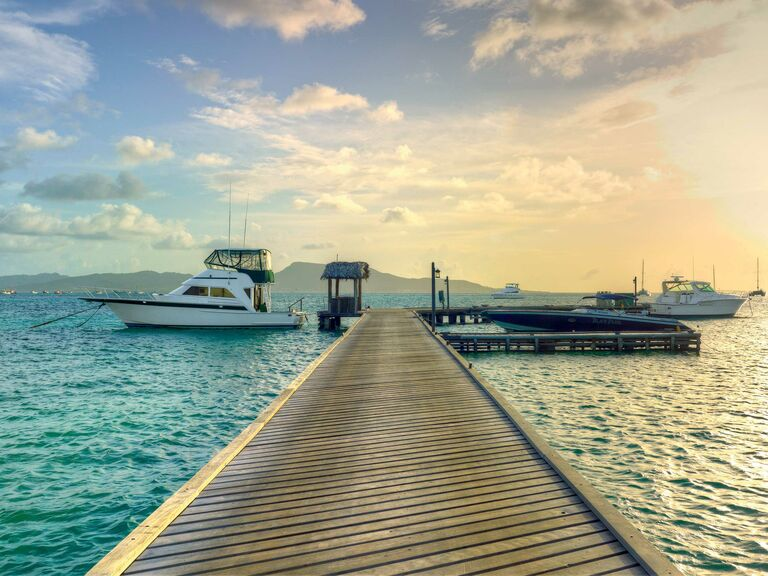 Dock at the Petit St. Vincent in the Caribbean