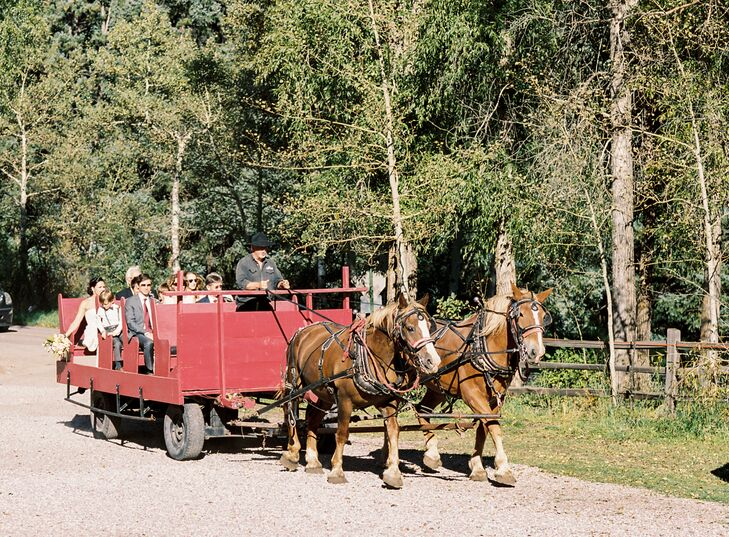 Rustic Wagon Ceremony Transportation