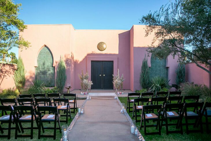 Bohemian Outdoor Ceremony at Sands Hotel & Spa in Indian Wells, California