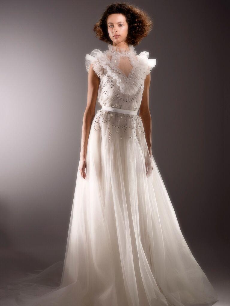 Viktor & Rolf Spring 2020 Bridal Collection tulle embellished wedding dress