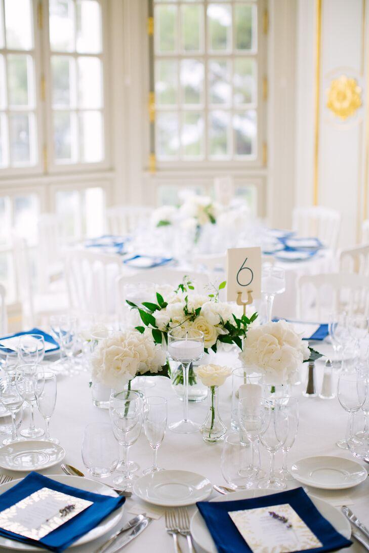 White Rose, Peony and Hydrangea Centerpiece