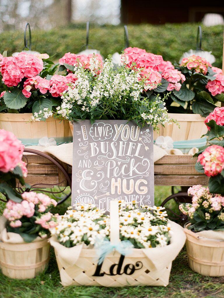 Doris Day song wedding sign