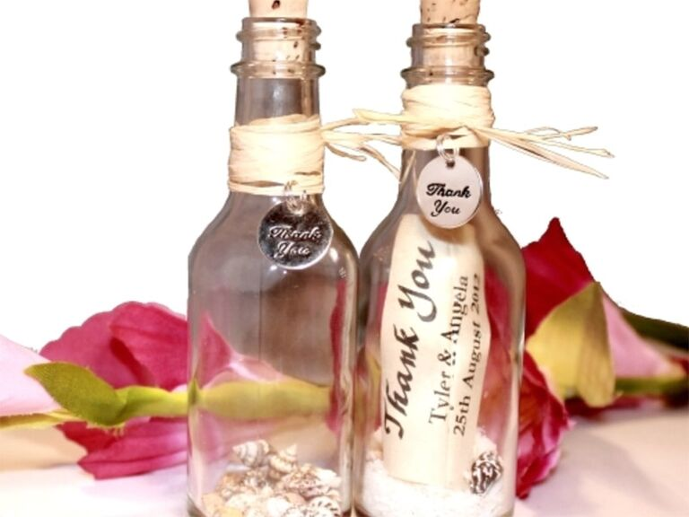 message bottle wedding favor