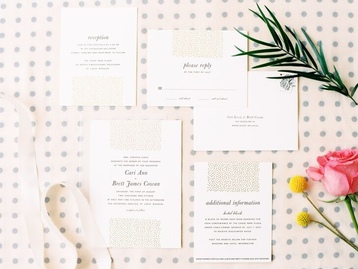 Crisp White Invitation Suite