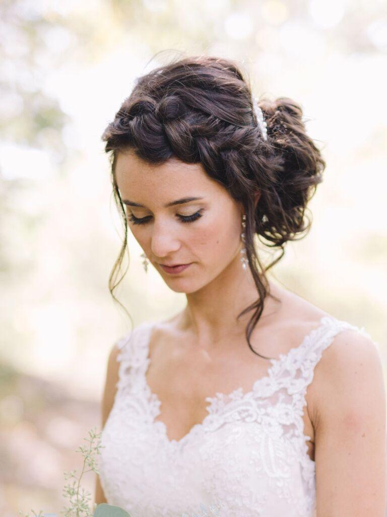 wedding braid hairstyles loose Dutch crown and low bun