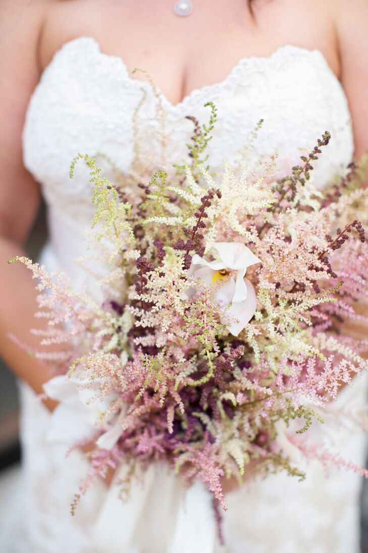 Pink Astilbe Bridal Bouquet