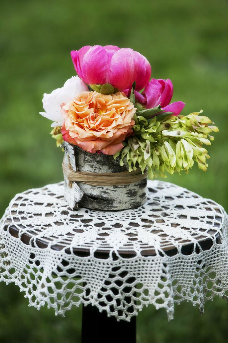 Wood Wrapped Centerpieces