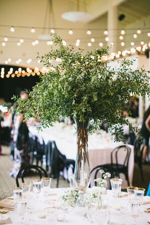 Tall Centerpieces with Greenery