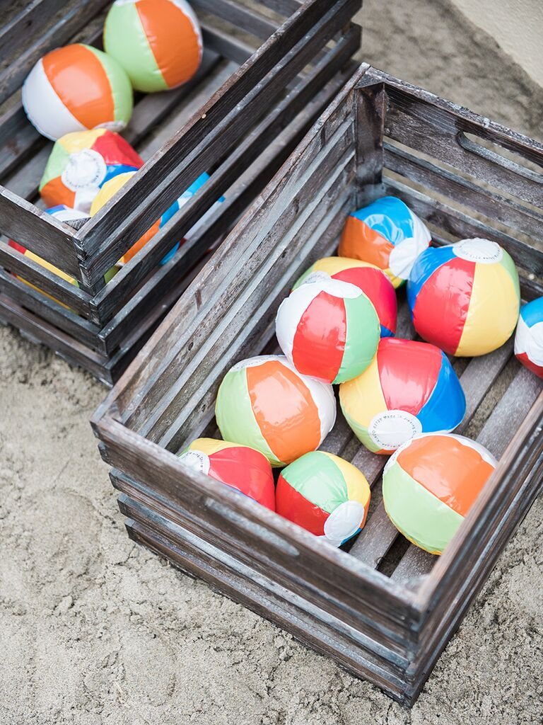 Beach-themed games and ideas for wedding reception