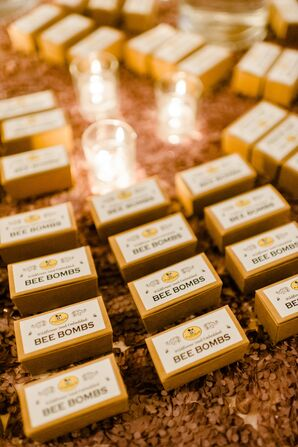 Party Favors Made of Bee Bomb Flower Seeds