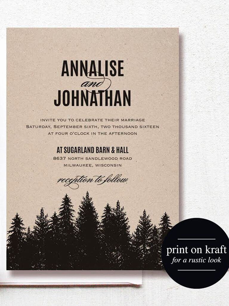 16 printable wedding invitation templates you can diy rustic forest wedding invitation printable solutioingenieria