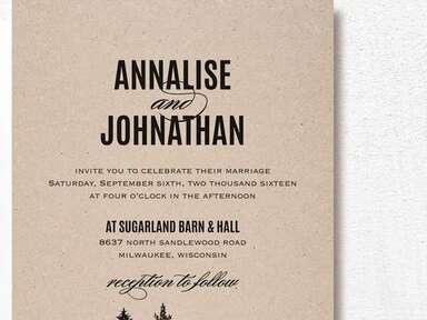 Rustic forest wedding invitation printable