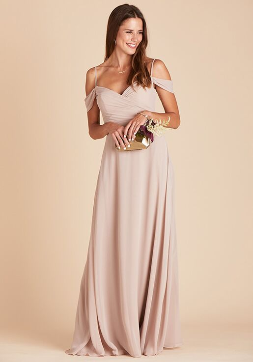 Birdy Grey Spence Convertible Dress in Taupe V-Neck Bridesmaid Dress