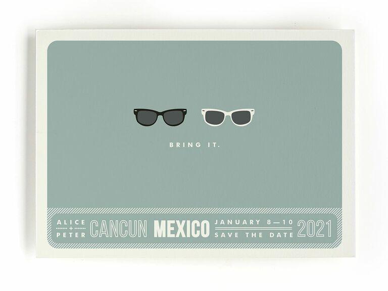 Minted sunglasses destination wedding save-the-date