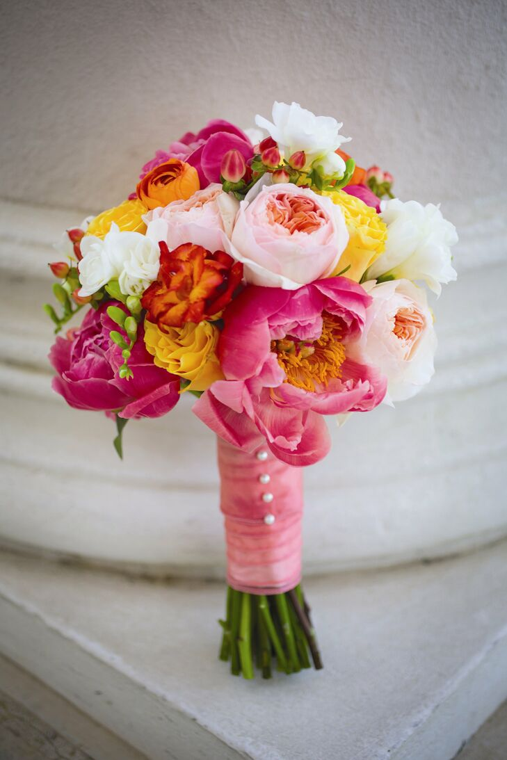Pink and Orange Hued Bouquet