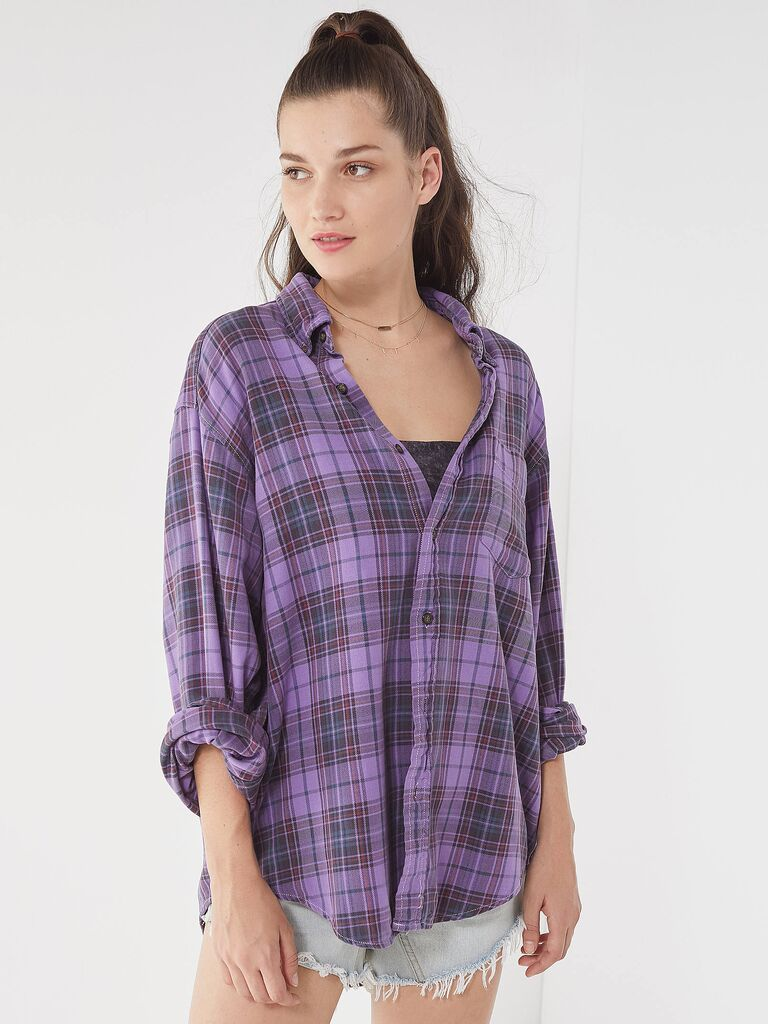 Urban Outfitters bridesmaid flannel