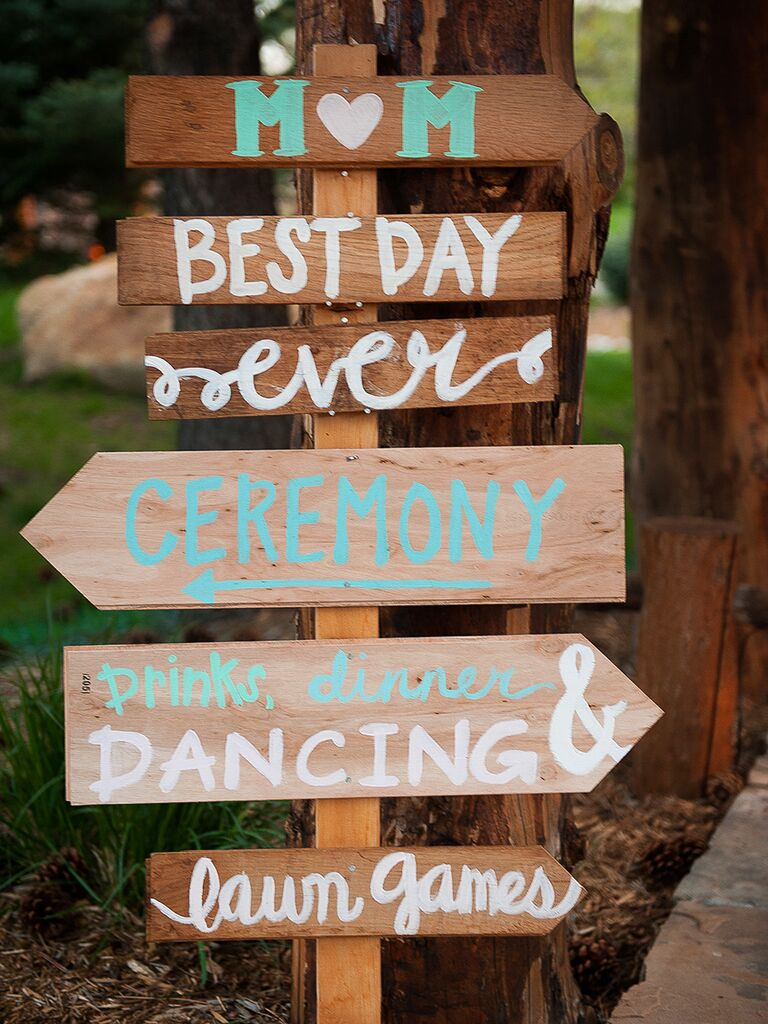 21 pretty diy wedding signs diy wedding sign idea junglespirit Choice Image
