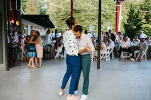 Casual First Dance with Grooms Wearing Dress Pants and Button-Up Shirts