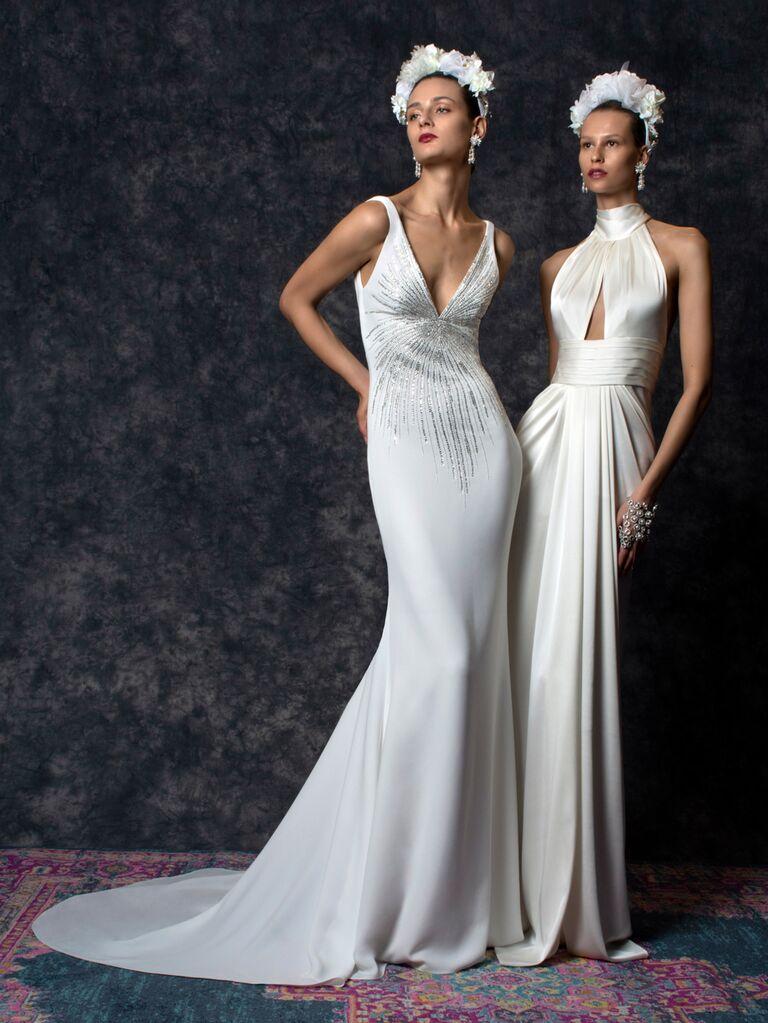 Naeem Khan Spring 2020 Bridal Collection sleek modern wedding dresses