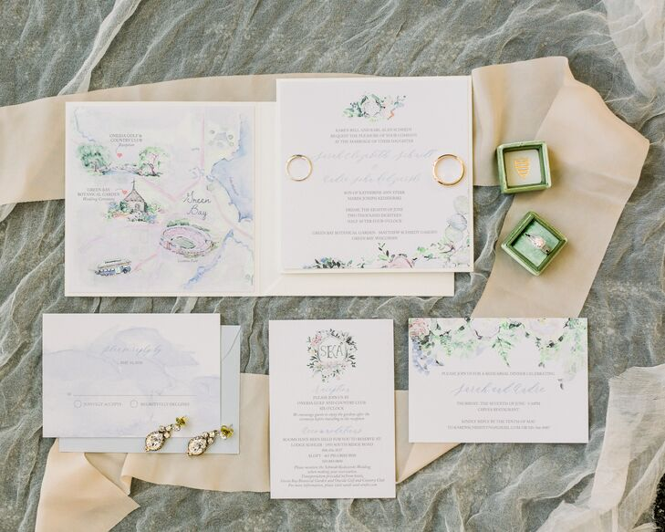 Personalized Bohemian Invitations in Pastel Colors