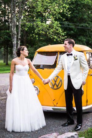Vintage Orange VW Bus Getaway Car