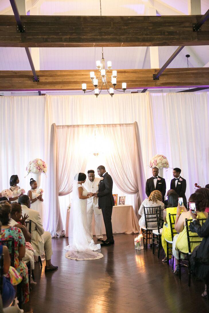 Romantic Draped Fabric Ceremony Backdrop