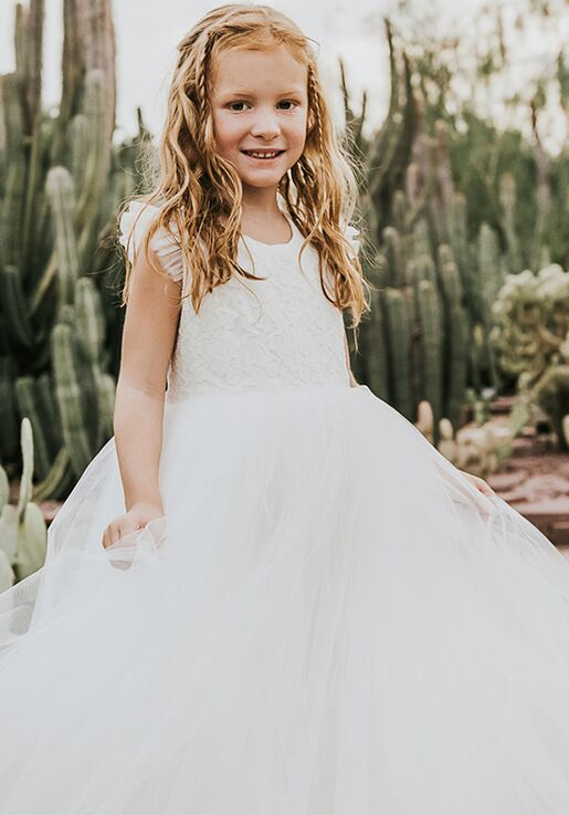 FATTIEPIE Applelace Flower Girl Dress