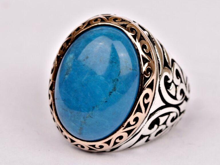 men's turquoise engagement ring