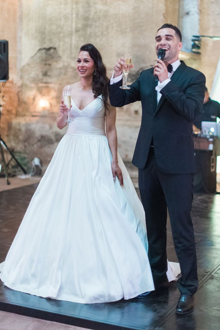 Modern Ball Gown with Thin Straps