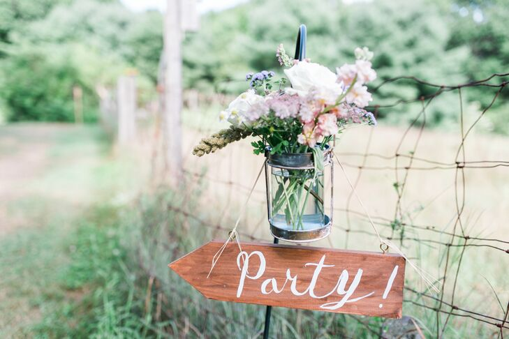 Megan always knew she wanted to get married at her family's home in North Yarmouth, Maine, and with its farmhouse, gardens and acres of wheat-filled fields, it isn't difficult to see why. The couple carefully chose every decorative element to match the elegant-meets-rustic environment.