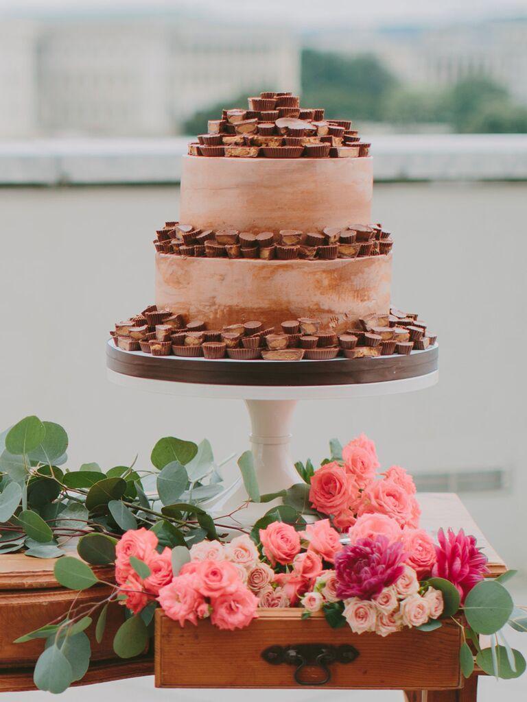 Delicious Reese's groom's cake idea